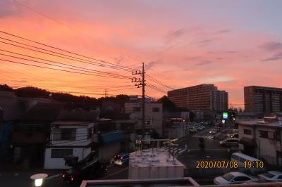 ふじみ野市から見られた素晴らしい夕焼け