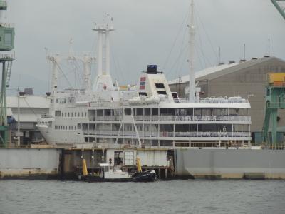 西日本フェリー旅・その2.引退した東海汽船/2代目さるびあ丸と大阪で再会。