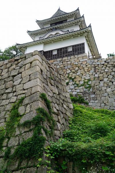20200711-2 丸亀 駅でケッタマシン借りて、丸亀城へ。急坂歩いて上って天守閣。