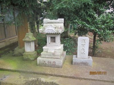 柏市の藤心・八幡神社・石仏