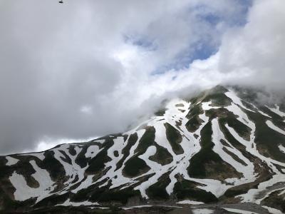 ブラタモリに刺激を受けて梅雨の立山黒部アルペンルートへ