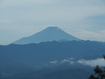 梅雨の晴れ間に富士山を望む 景信山から高尾山へ縦走