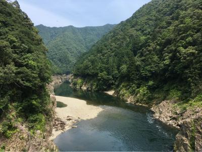 2020年6月、久々の遠出で十津川温泉に行ってみた②(野猿で遊んで熊野の世界遺産や瀞峡へ)