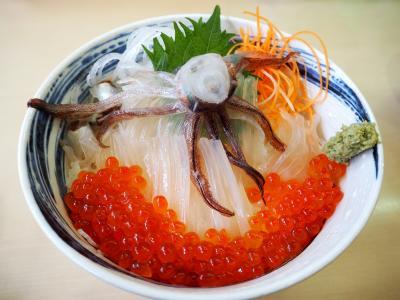 JALどこかにマイルで函館へ2*・゜・*イカの踊り食い*・゜・*
