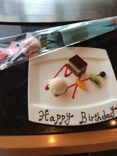 帝国ホテル大阪で友人のバースディをお祝いしました。