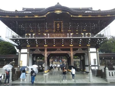 成田空港午後発フライト搭乗の前に成田山新勝寺参詣