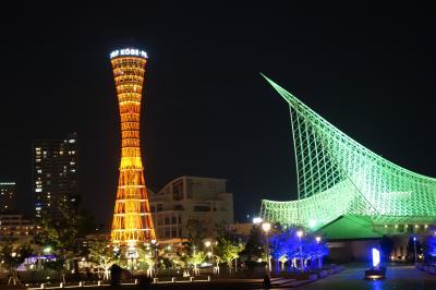20200721-6 神戸 ほろ酔い?で、夜のメリケンパークを散歩