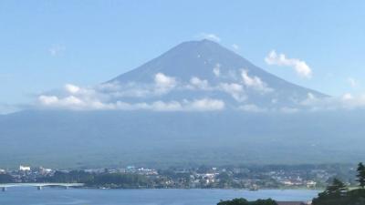 梅雨空でしたが朝一は富士山が見られた二泊三日の旅