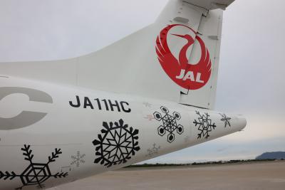 HACのATR42をメインに1日4路線3種のプロペラ機に乗る。