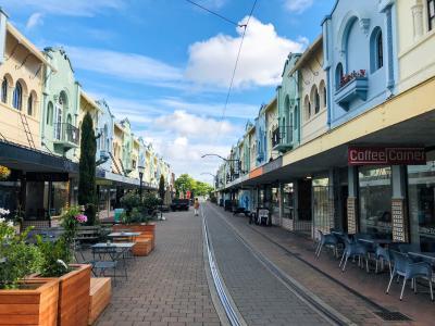 ニュージーランド 南島 ルピナス街道 ⑪ (きれいな川が流れるガーデンシティ♪クライストチャーチ)