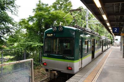 琵琶湖沿岸を走る京阪電車坂本石山線