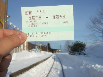 運賃600円片道きっぷの鉄道旅 冬編(2013年1月)
