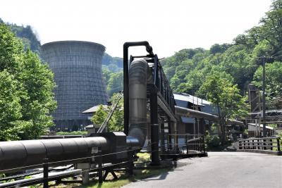 松川温泉「峡雲荘」と日本初の松川地熱発電所2020~周辺はハルゼミの大合唱~(岩手)