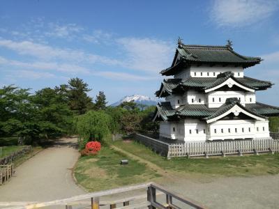 急行津軽で5年ぶりの弘前  ー (9)朝の弘前公園と石場旅館、そして「弘前の今」