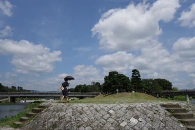 20200801-1 京都 梅雨が明けたら京都の夏が…出町まで散歩に行ってみるか…