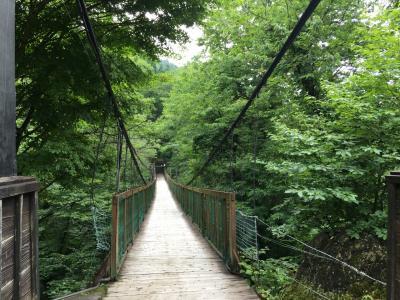 吊り橋の先にある秘湯の宿に泊まる その1お部屋編