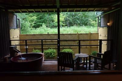 京都・烟河滞在記 湯ノ花温泉の露天風呂付き客室でまったり