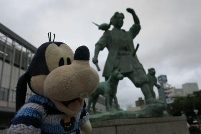 グーちゃん、「GO TO」で、岡山へ行く!(帰りの新幹線は大雨で・・・!編)