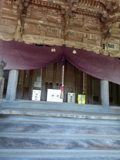 愛媛(伊予一国)ドライブ巡礼(37)霊場第四十六番浄瑠璃寺に参拝。