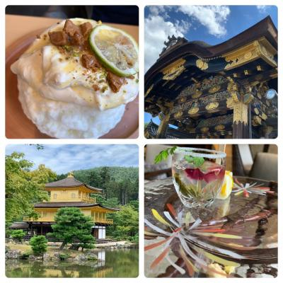 灼熱の京都旅!金閣寺・龍安寺・二条城、京氷菓つらら、ホテルでアフタヌーンティー
