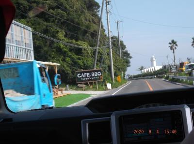 豊浜往復の海岸30と31と32と33野間灯台となりのカフェ