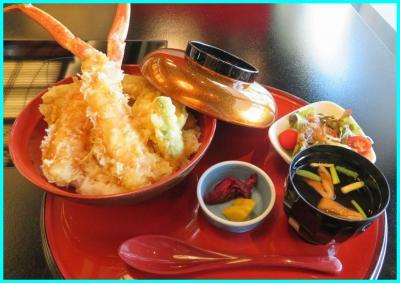 県民限定プランで鎌倉パークホテルへ(5)ランチは「和 みなもと」でズワイ蟹天丼