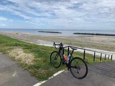 グラベルロードバイクで行く輪行・宮城県南浜街道