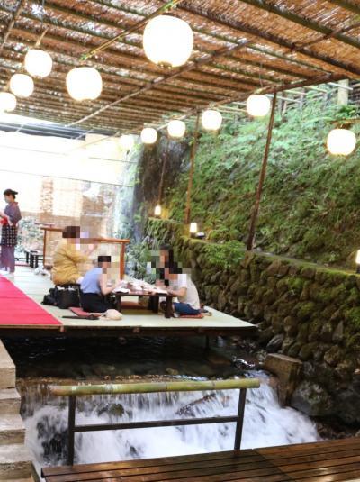 猛暑の京都、貴船「きらく」は天国、京都オークラ宿泊、先斗町、祇園