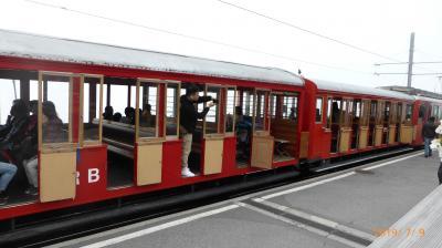 スイス 鉄道でぐるっと一回り17日間(13) リギ山鉄道に乗って山頂展望台へ
