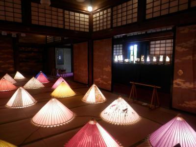 ◆八幡山ロープウェー 竹灯篭&和傘のイルミネーション