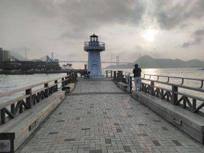 関門海峡朝の自転車散歩