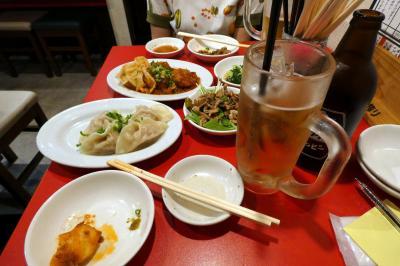 301餃子 三島店の夕食