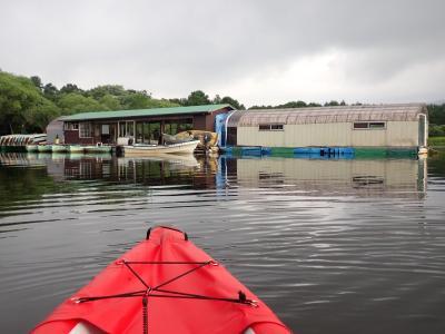 クロスカブ 東北ツーリングでカヤック 小野川湖カヤック