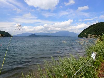 東北 クロスバイク ツーリングでカヤック 磐梯山ゴールドラインで猪苗代湖一周