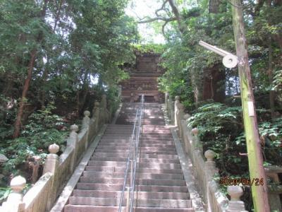 愛媛(伊予一国)ドライブ巡礼(46)霊場第五十二番太山寺に参詣。