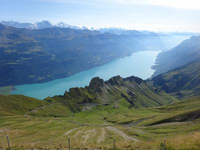 絶景が広がるアルプスの山歩きと鉄道の旅:スイス、リヒテンシュタイン旅行【13】(2019年秋 3日目⑧ 碧の絶景!ブリエンツ湖)