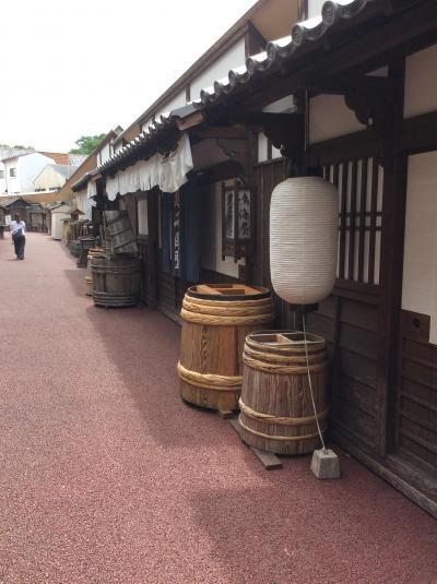 京都太秦映画村へ暑い中行きました。近くに広隆寺がありました。