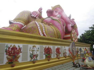 バンコク4日間 その6ピンクのガネーシャの寺ワット・サマーン・ラッタナーラーム散策