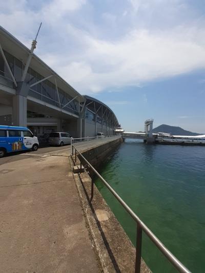 愛媛(伊予一国)ドライブ巡礼(48)松山観光港での昼食。