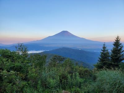 山中湖夏登山の旅② 石割山/大平山への登山で朝焼けの富士山をゲット