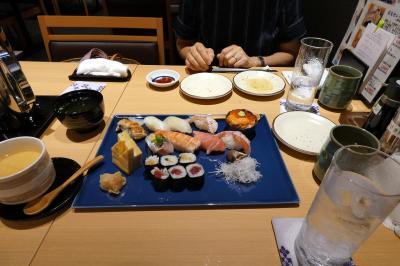日本料理 寿司・うなぎ処京丸の夕食
