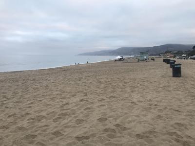 ズマビーチで朝の散歩とリトル東京で金沢カレーのランチ