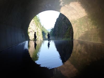 クロスカブで上信越ツーリング 清津峡トンネルから野尻湖へ