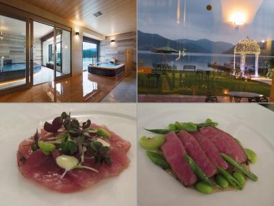箱根でのんびり(3)箱根ホテルの温泉、ディナー、モーニング