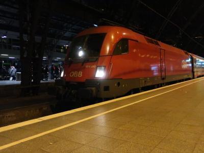 寝台列車「ナイトジェット」でドイツからオーストリアへ