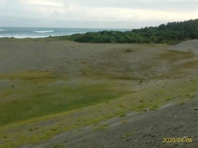 中田島砂丘で、周囲をぐるっと見る