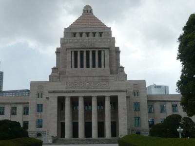 国会を見学しました。初めての経験です。 感激です。