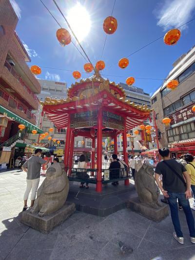 温泉と南京町へ