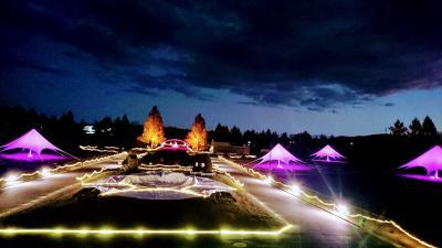 夜の庄原 備北丘陵公園