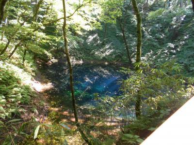 みちのくエールの旅2日目、十二湖の青池とJR五能線を楽しむ(2020年9月4日~6日)